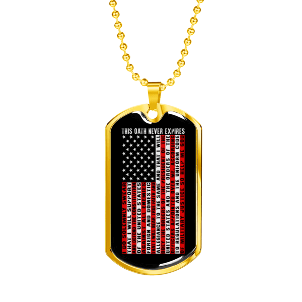 Oath of Enlistment Dog Tag