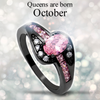 October Birthstone Halo Ring