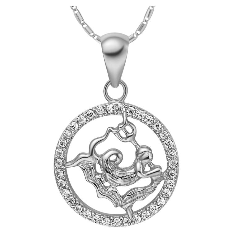 Aquarius Zodiac Pendant Necklace