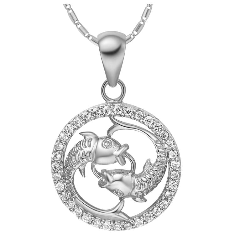 Pisces Zodiac Pendant Necklace