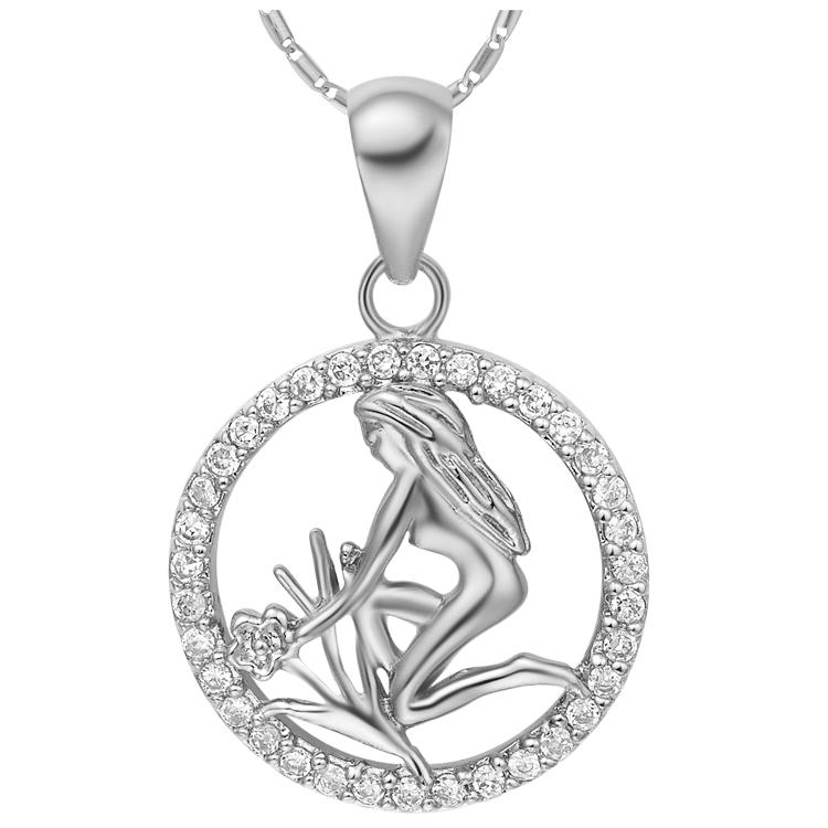 Virgo Zodiac Pendant Necklace