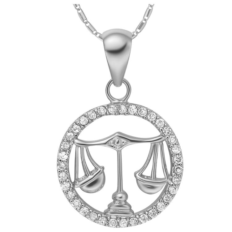 Libra Zodiac Pendant Necklace