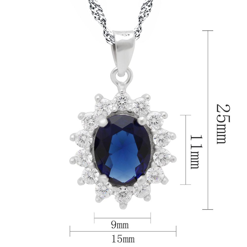 Princess Diana inspired 2.6ct Sapphire Pendant (September)