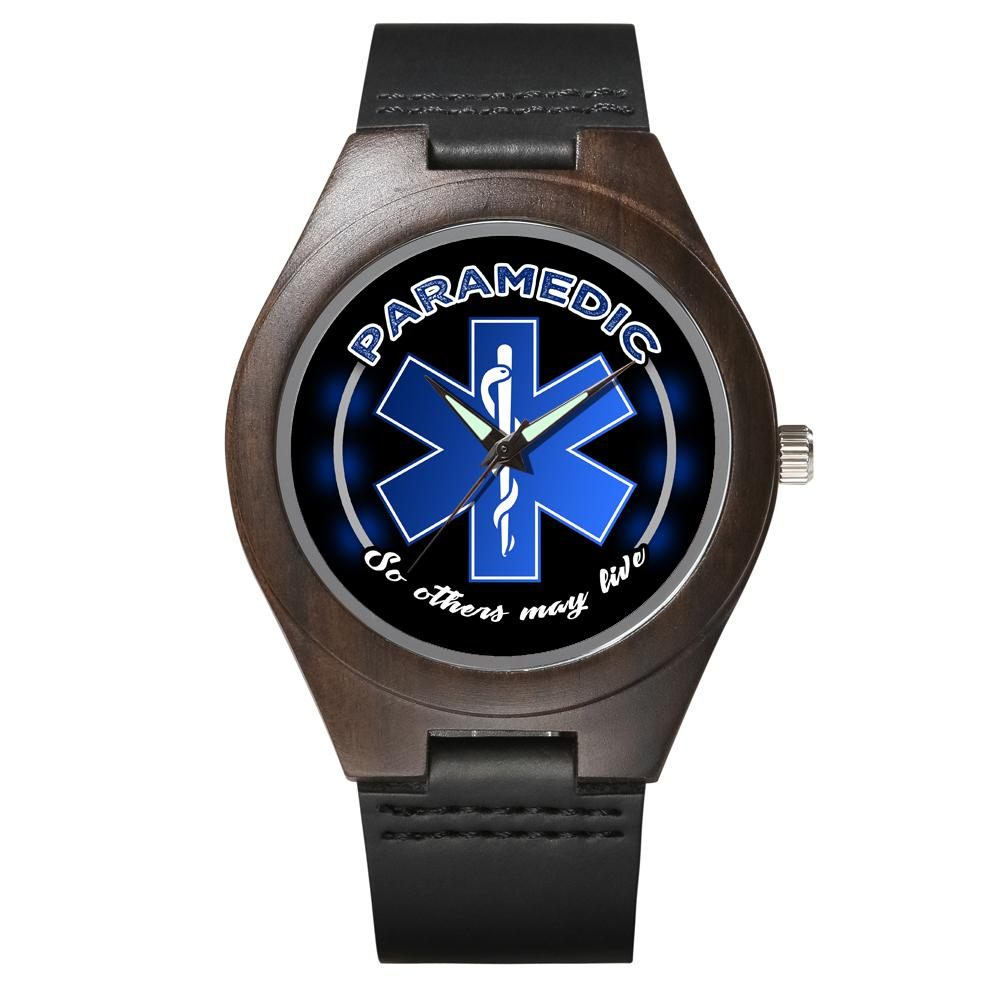 Paramedic's Creed - Ebony Wood Watch