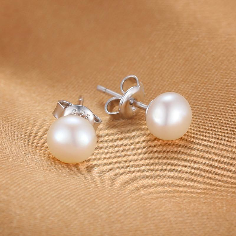 Cultured Pearl .925 Sterling Silver Stud Earring (June)