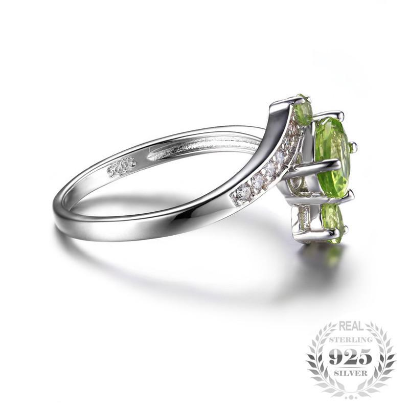 August Birthstone 1.2ct Peridot S925 Ring