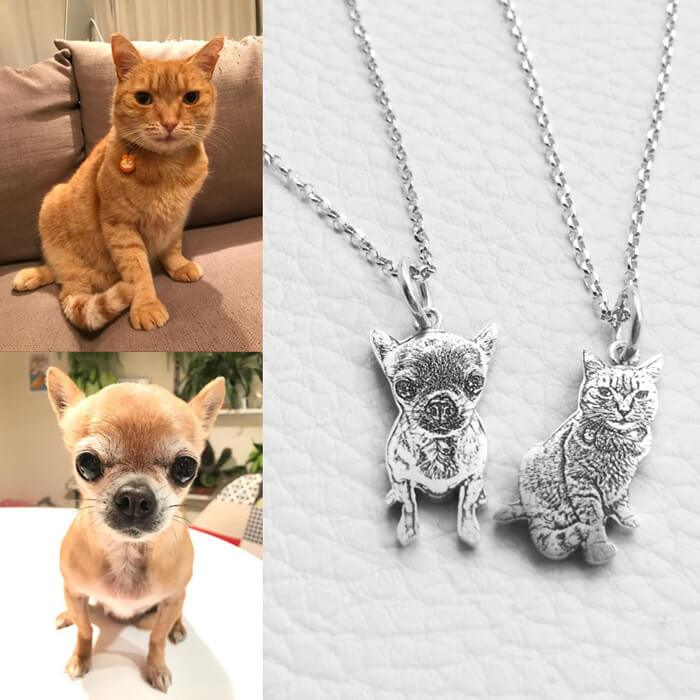 Custom Pet Picture Necklace