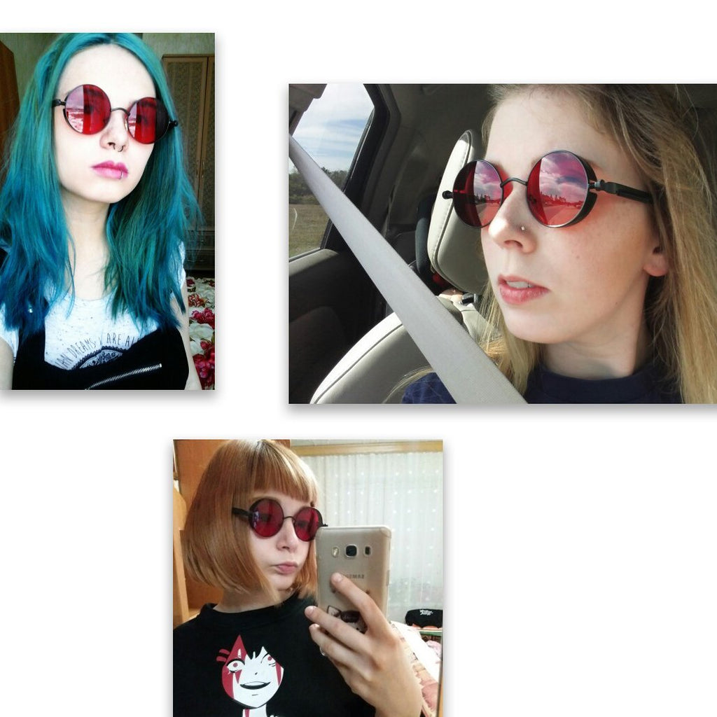 Retro Garnet Sunglasses (January)