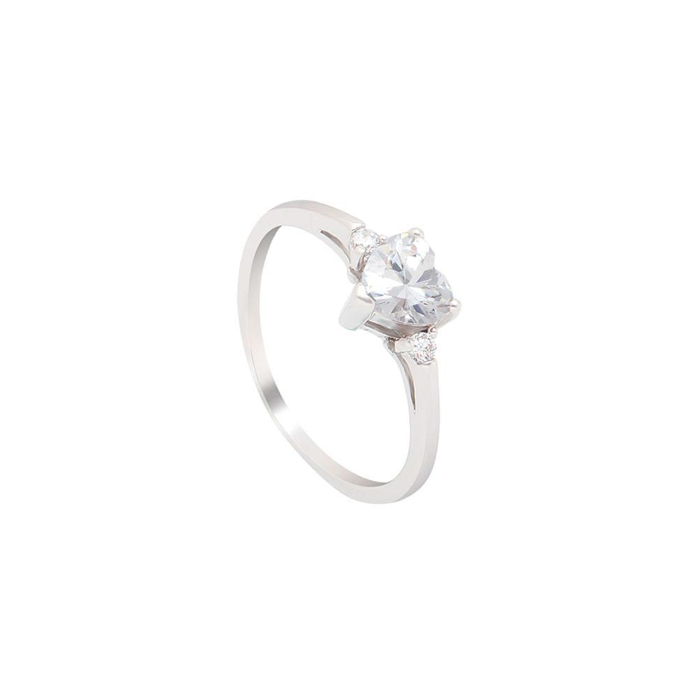 April Heart Birthstone Ring (Diamond)