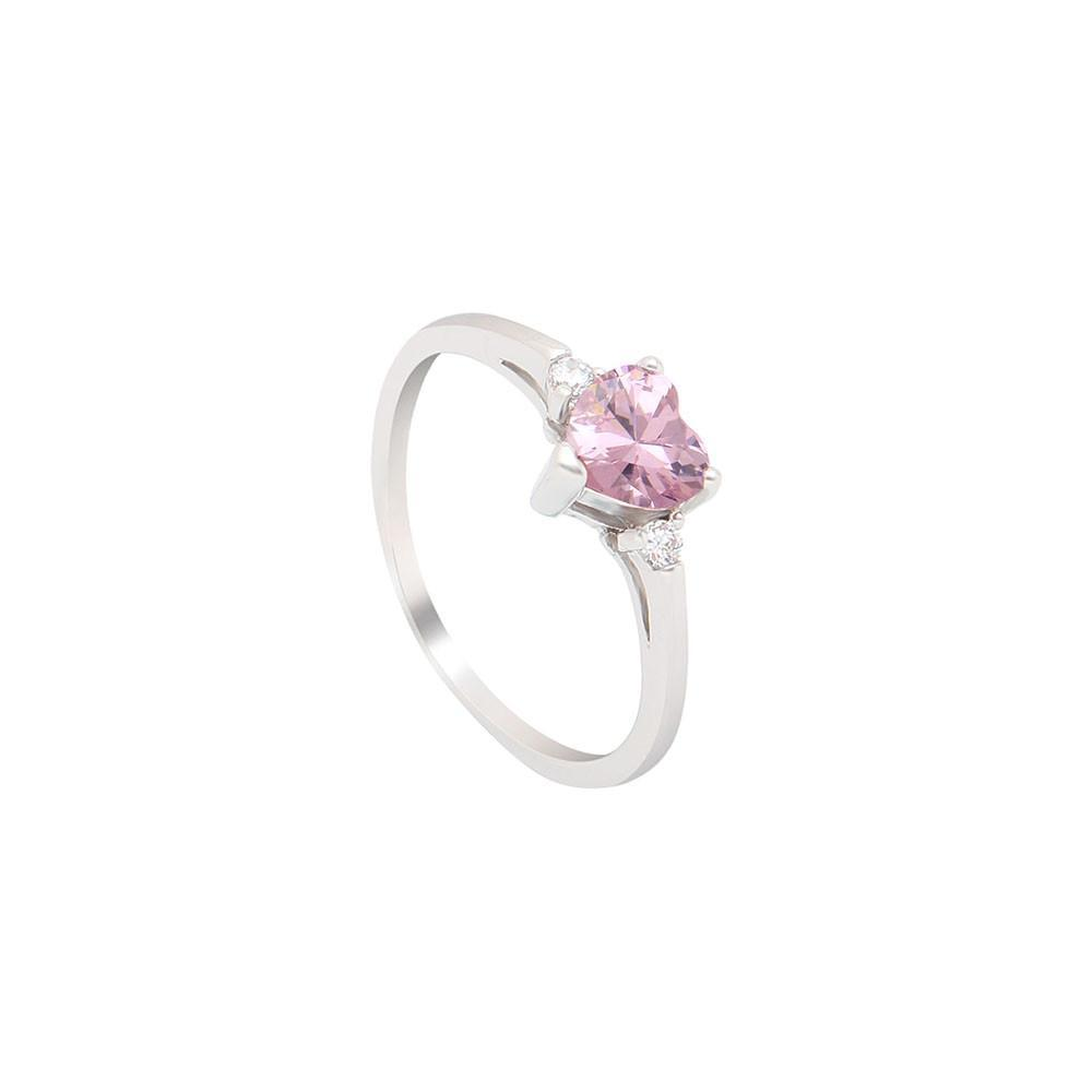 October Heart Birthstone Ring (Tourmaline)