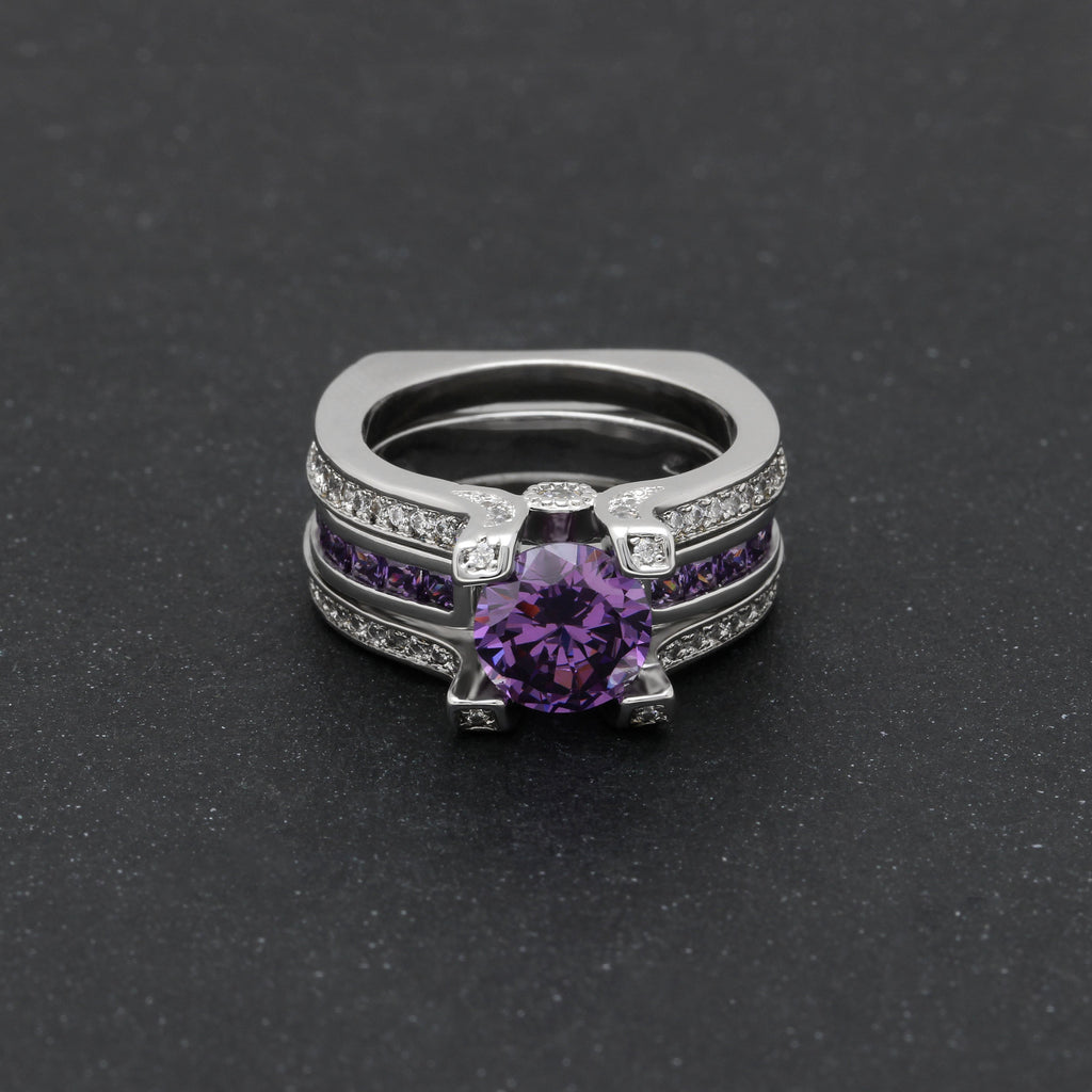 Silver Alexandrite Birthstone Ring (June)