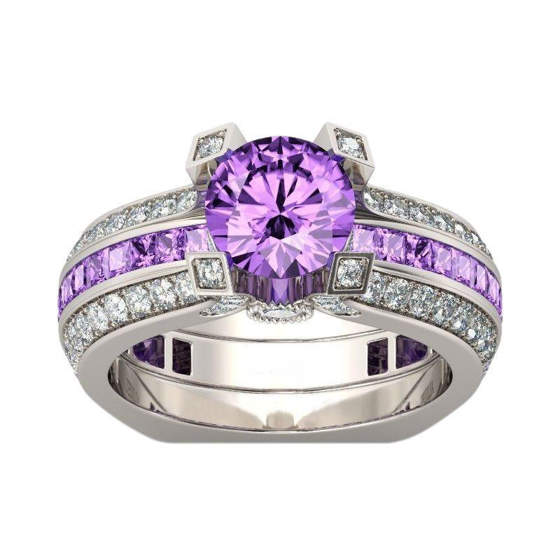 Silver Amethyst Birthstone Ring (February)