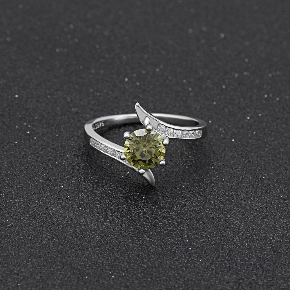 Isabella Peridot S925 Ring (August)