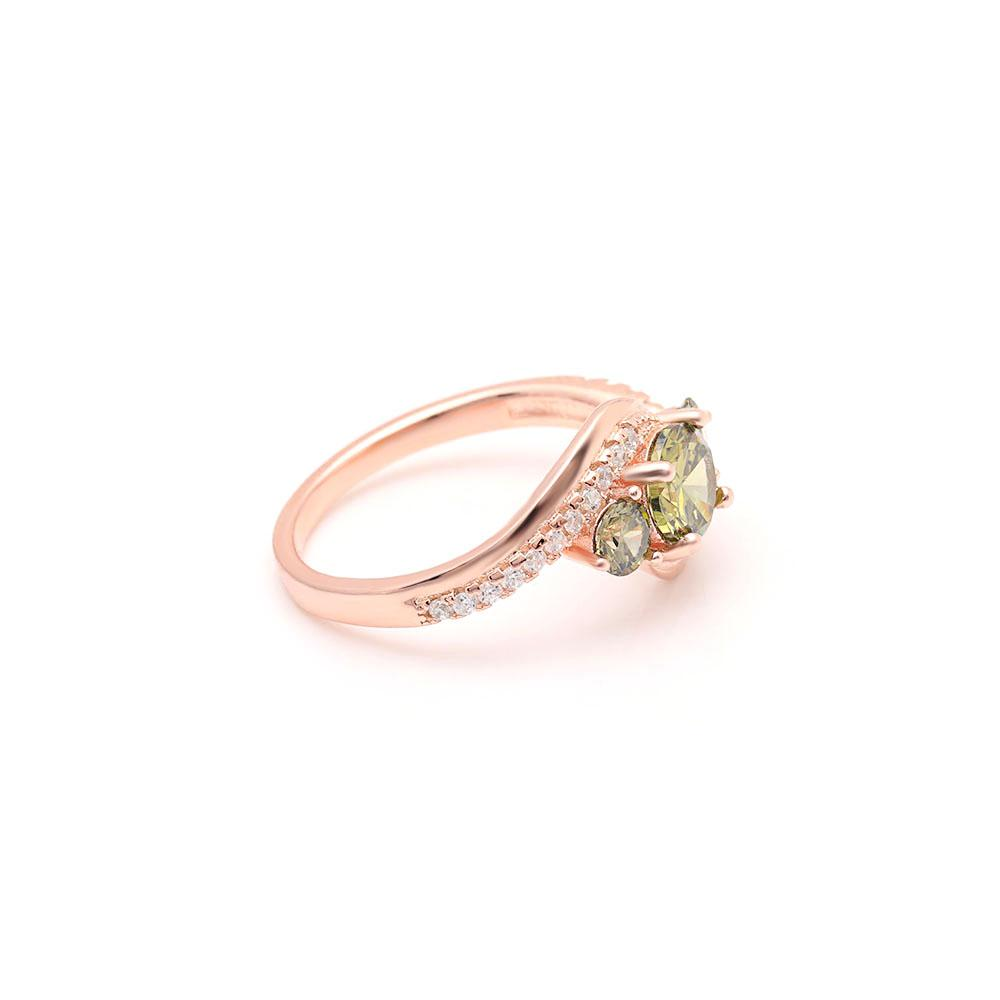 August Birth Ring (Peridot)