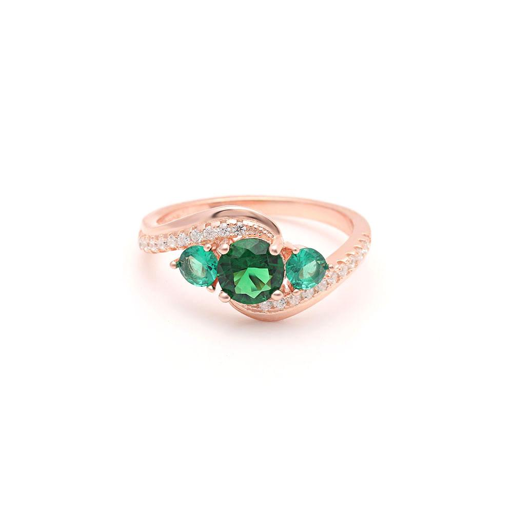 May Birth Ring (Emerald)