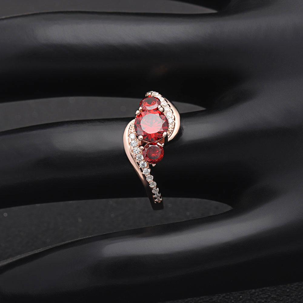 July Birth Ring (Ruby)