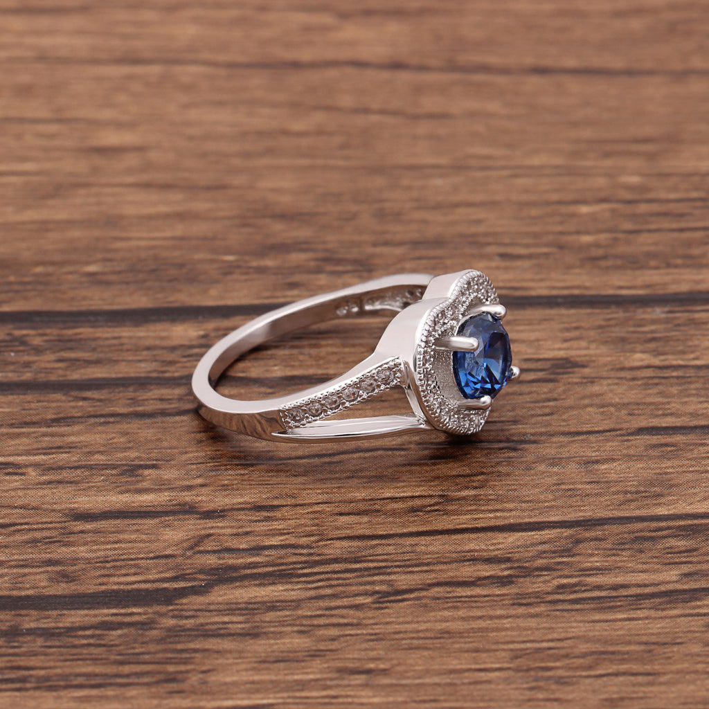 Tanzanite Heart Ring (December Birthstone)