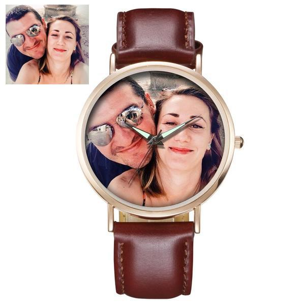 Custom Photo Rose-Gold Watch