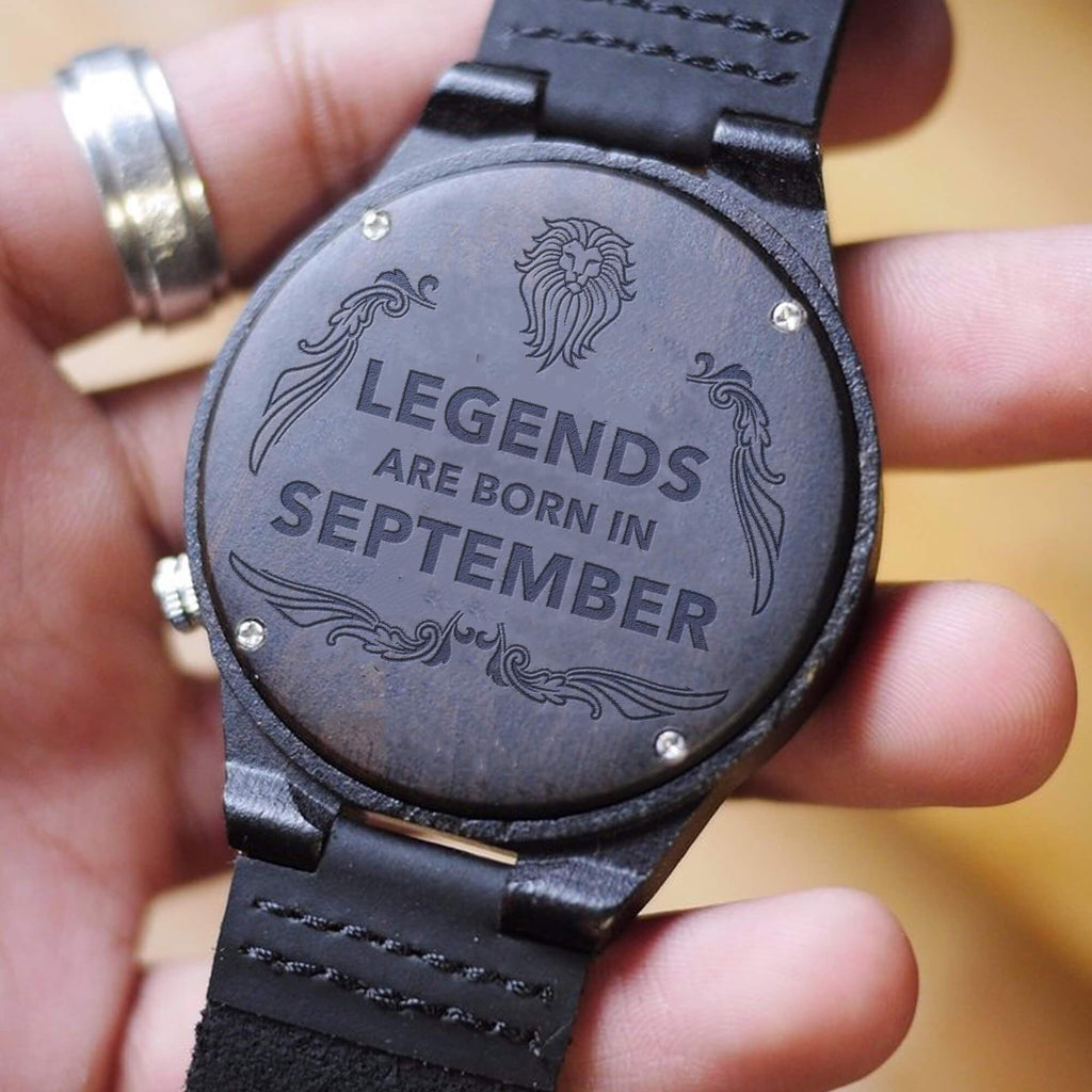 September Legends - Black Ebony Wood Watch
