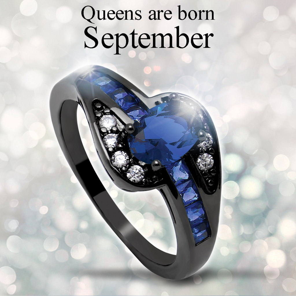 September Birthstone Halo Ring
