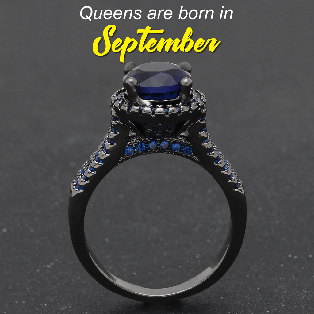 September Crown Sapphire Ring