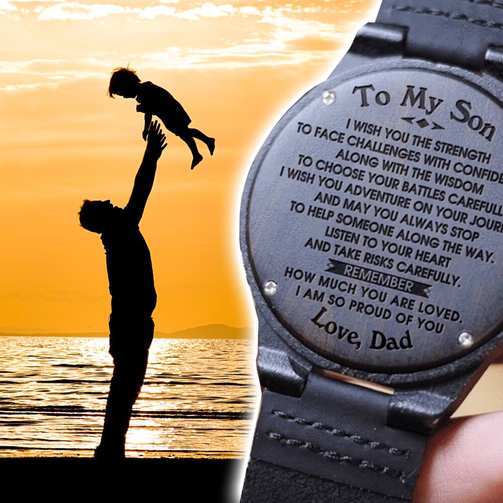Son Dad - Proud Of You - Wood Watch