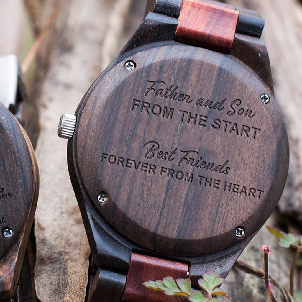 Father and Son - Best Friends - Wood Watch