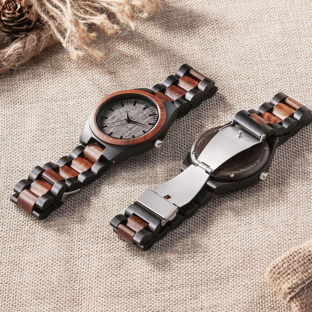 Mother and Daughter - Best Friends - Wood Watch
