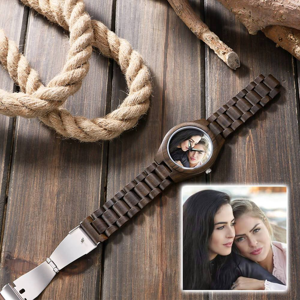 Custom Keepsake Ebony Wood Watch