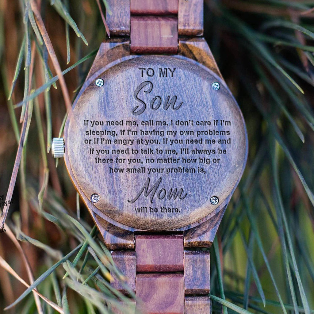 Son - Mom Will Be There - Wood Watch