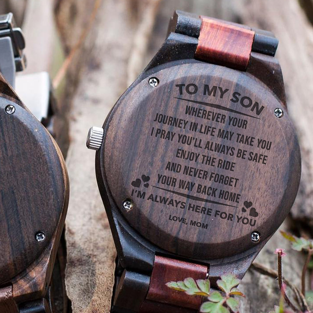 Son Mom - Way Back Home - All Wood Watch