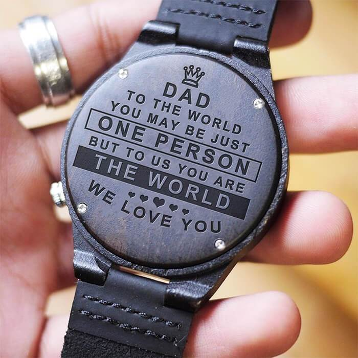 We Love You Dad - Wood Watch