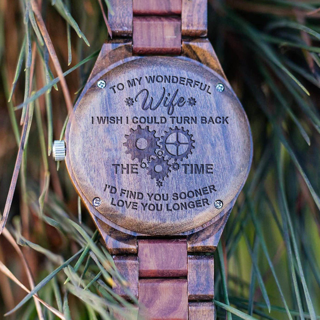 To My Wonderful Wife - All Wood Watch