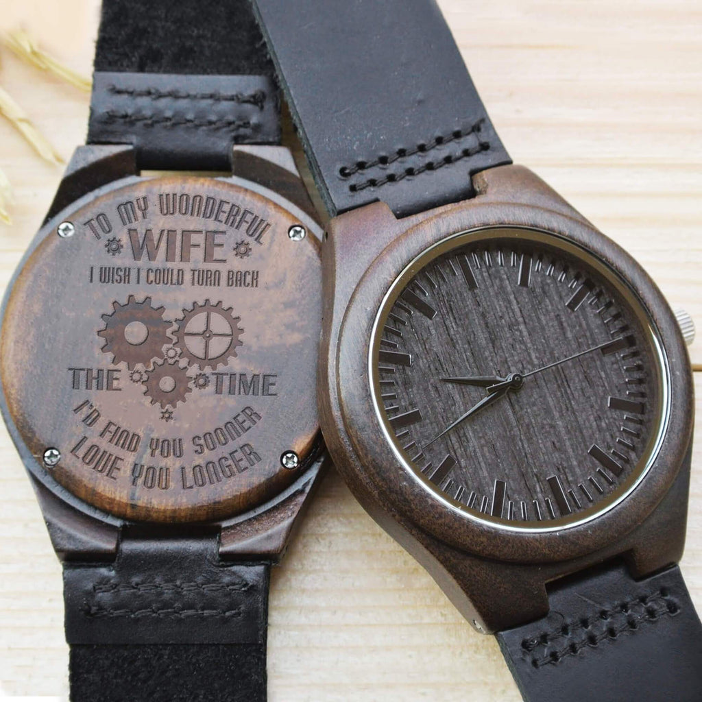 To My Wonderful Wife - Wood Watch