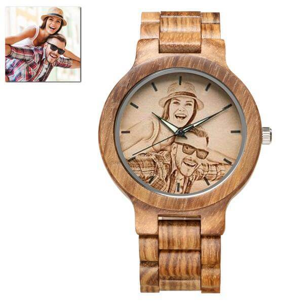 Zebra Custom Wood Watch