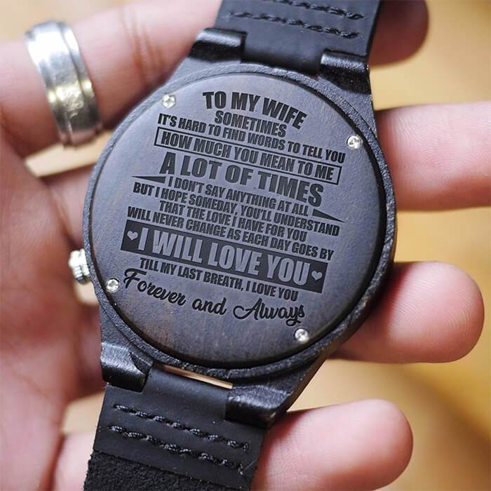 To My Wife - Forever & Always - Wood Watch