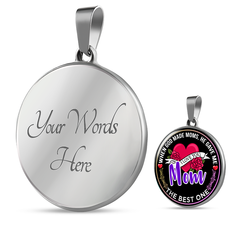 The Best Mom - Pendant Necklace