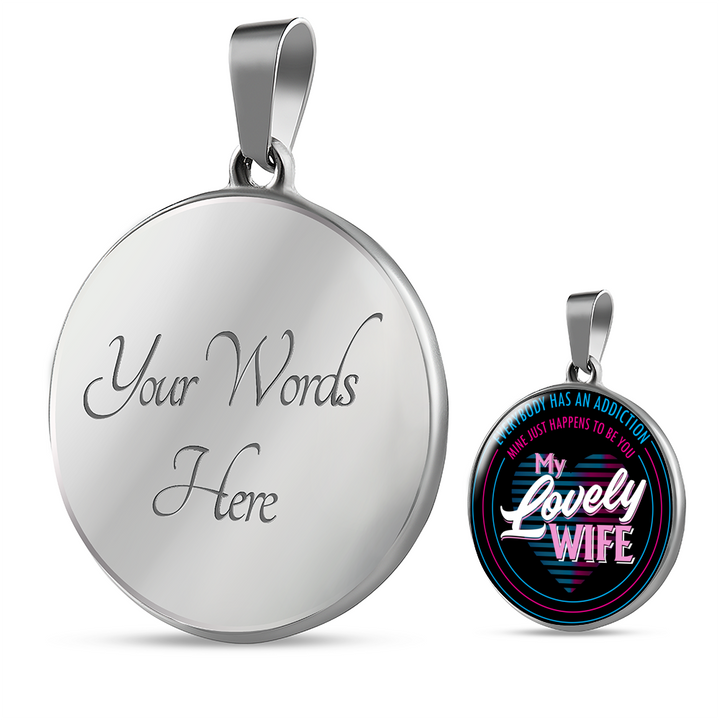 To My Lovely Wife - Pendant Necklace