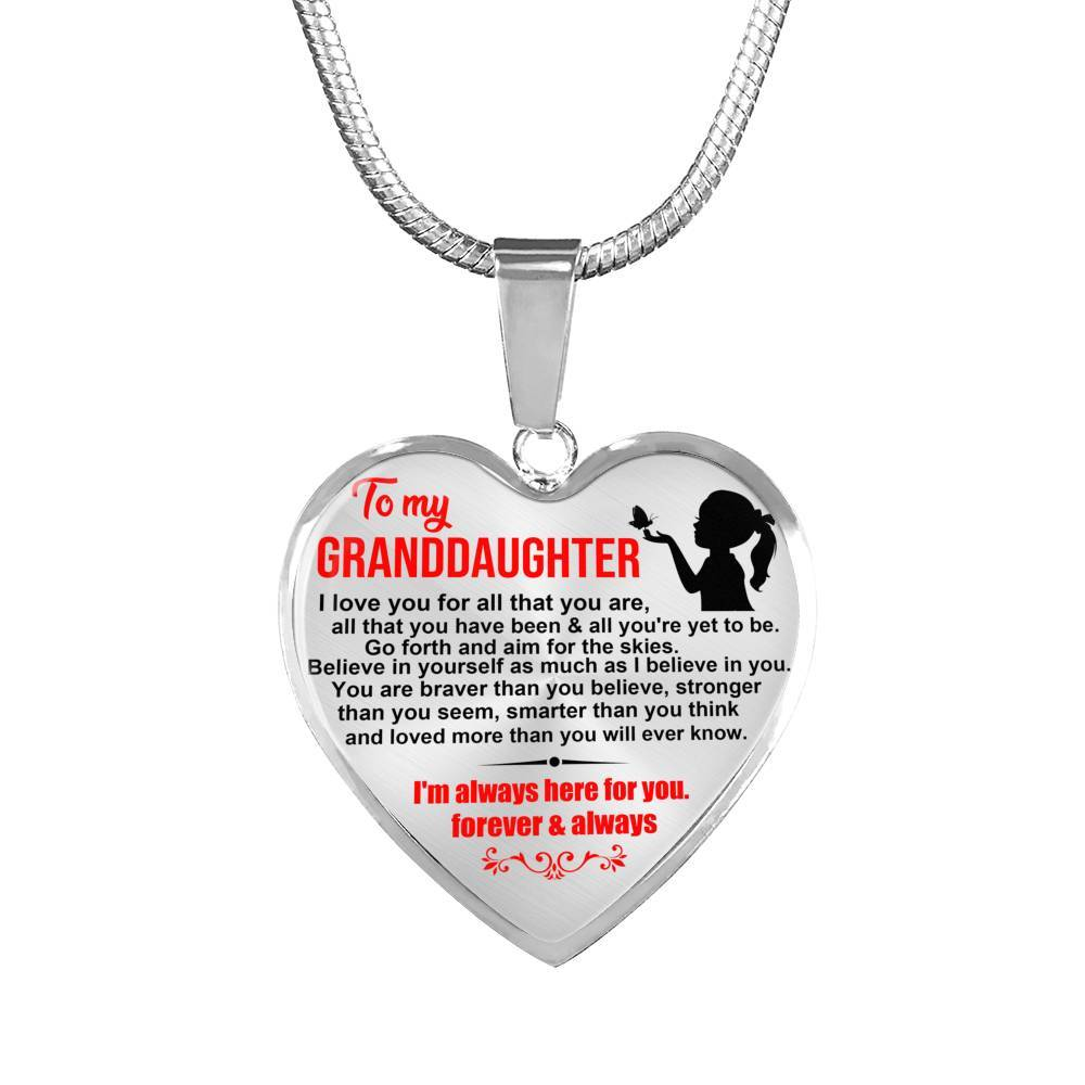 Granddaughter - Aim For The Skies - Keepsake Necklace
