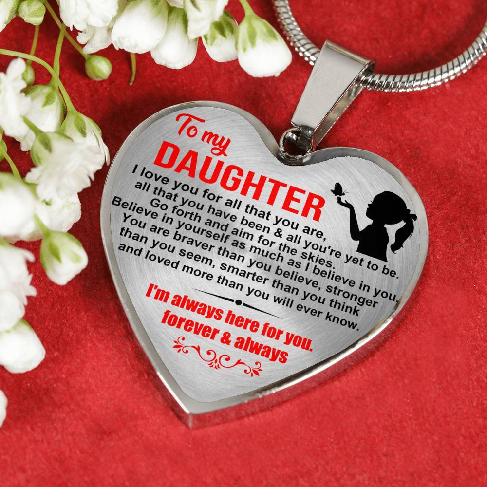 Daughter - Aim For The Skies - Keepsake Necklace