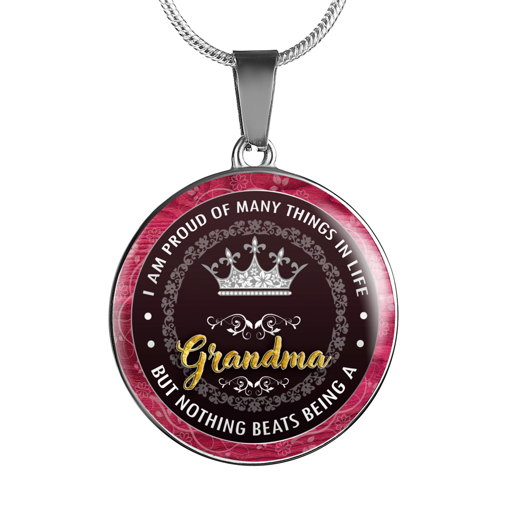 Proud Grandma - Pendant Necklace