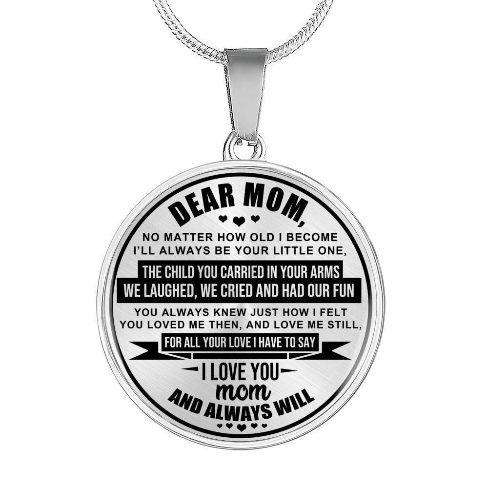 I Love You Mom - Always & Forever - Pendant Necklace