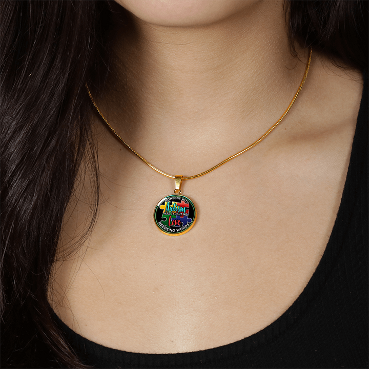 Autism Love Pendant Necklace and Bangle
