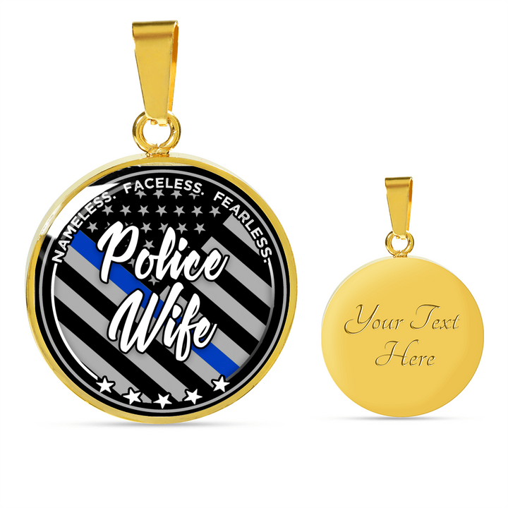 Police Wife Tribute Pendant Necklace & Bangle