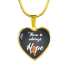MS Awareness Pendant Necklace and Bangle