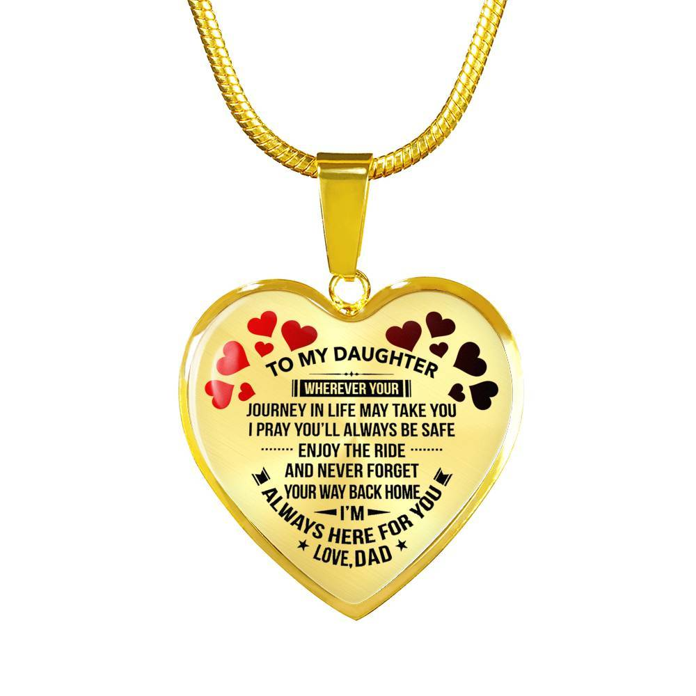 To My Daughter - Dad - Premium Necklace