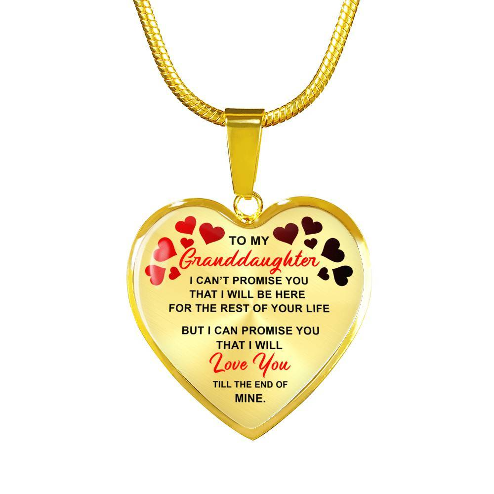 To My Granddaughter - I Promise - Luxury Necklace