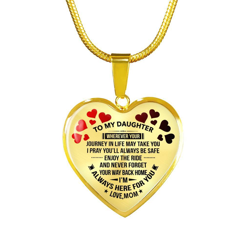To My Daughter - Mom - Premium Necklace