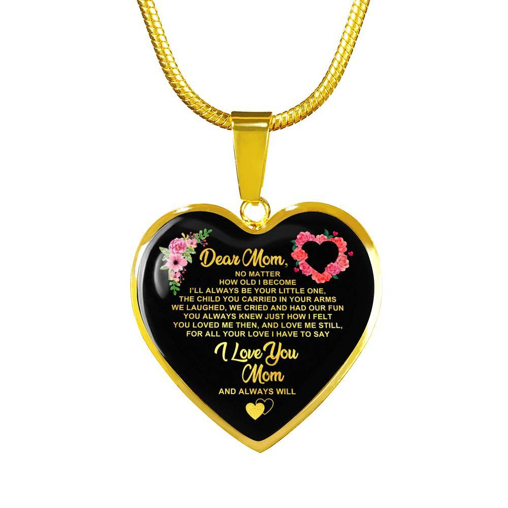 Dear Mom - Keepsake Heart Necklace
