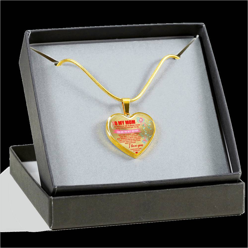 To My Mom - Best Mother - Heart Keepsake Necklace